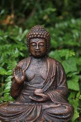 Bild mit Meditation, Buddha, Buddhas, Tempelanlagen, Tempel, Buddhismus, Indien, India, Yoga, Beten, Gebet, Religion, Religionen