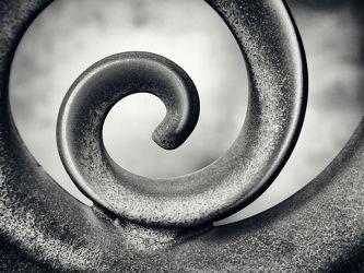 Bild mit Abstrakt, Spirale, Stillleben, schwarz weiß, SW, kreis