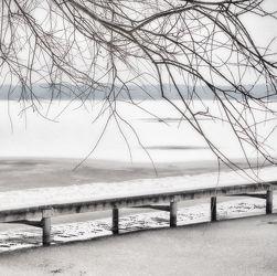 Bild mit Winter, Schnee, Steg, winterlandschaft, Winterlandschaften, Frost, Stege