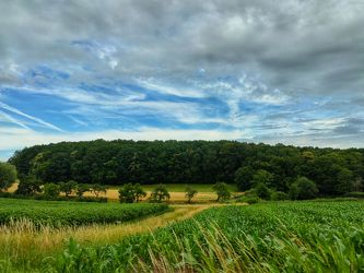Bild mit Gräser, Landschaften, Berge und Hügel, Himmel, Wolken, Laubbäume, Wald, Wiese, Weide, franken