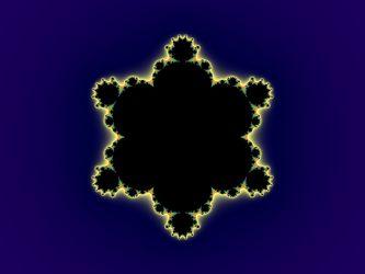 Bild mit Farben, Gelb, Kunst, Blau, Schwarz, Hintergrund, Hintergrund, Abstrakt, Muster, Fraktale, Büro, Mitte, pattern, gebilde, fraktal, mandelbrot, zufall, apfelmännchen, mathematik, informatik