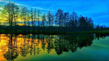 Bild mit Natur, Wasser, Gewässer, Landschaft, See, Spiegelung