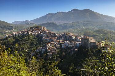 Bild mit Italien, Gebirge, dorf, alte Häuser, Einsamkeit, Bergdorf, rivello, basilikata, potenza, monte Sirino