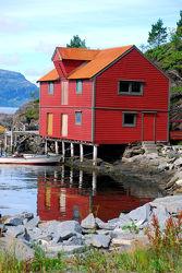 Norwegen - Rotes Haus