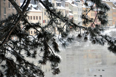 Winterblick über die NeiÃ?e (Görlitz)