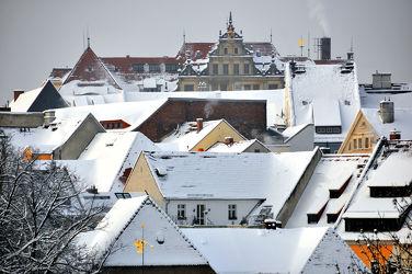 Görlitz - Winterdachlandschaft mit Rathaus 2