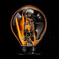 Bild mit Glas, Feuer, Dunkelheit, Licht, Technik, nahaufnahme, Lampe, Strom, glühbirne, Elektrizität