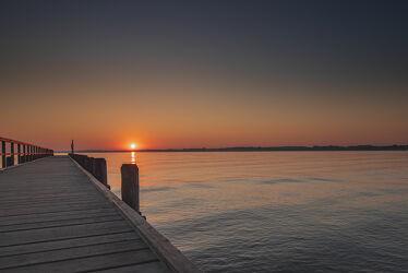 Sonnenaufgang in Travemünde