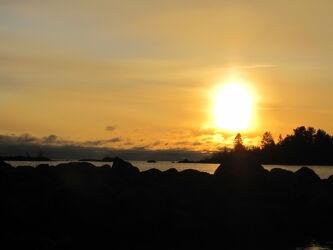 Bild mit Küsten und Ufer, Sonnenuntergang, Sonnenaufgang, Am Meer