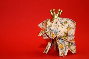 Bild mit Kunst, Rot, Kunstwerk, Elefant, Elefanten, Künstlerisch, dekorativ