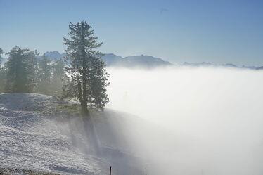 Bild mit Winterlandschaften, Nebelauflösung, Nebelwolken, Hochnebel