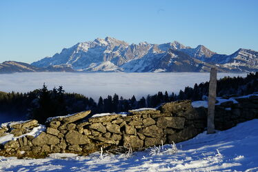 Bild mit Berge, Winterlandschaften, Winterimpressionen, Nebelwolken, Hochnebel