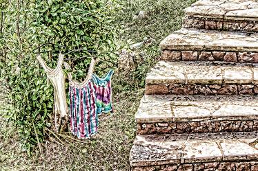 Bild mit Natur, Treppen, Kleidung, Mode