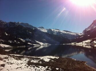 Bild mit Berge, Seen, Sonne, Sonnenstrahlen