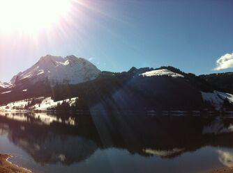 Bild mit Berge, Sonne, See, Ausflüge, Freiheit