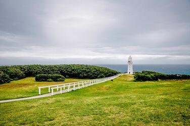 Bild mit Landschaft, Leuchtturm