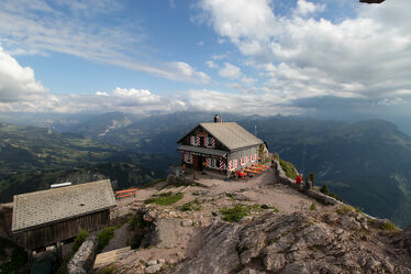 Bild mit Berge und Hügel, Landschaft, Himmel Panorama, Berghütte, ausblick