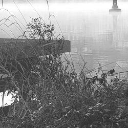 Bild mit Nebel, Anleger, Nebelwolken, morgennebel, Anlegestelle