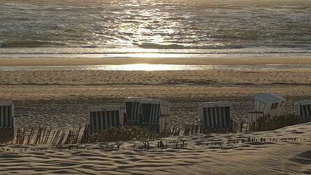 Bild mit Sonnenhüte, Sonne, Strandkörbe am Meer, Sonne und Meer, Strand und Meer