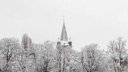 Bild mit Natur, Bäume, Schnee, Wald, Kirchenturm, winterlandschaft, Kälteeinbruch