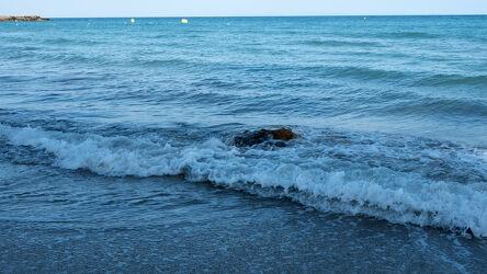 Bild mit Natur, Wasser, Brandung, Wellen, Blau, Meer, Griechenland, Bucht
