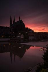 Görlitz_Peterskirche am Abend