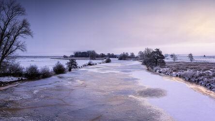 Bild mit Winter, Sonnenaufgang, Panorama, Landschaft, winterlandschaft, Lichtstimmung, Hammeniederung, Teufelsmoor, Winterstimmung, Hamme