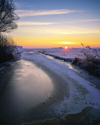 Sonnenaufgang in der Wümmeniederung