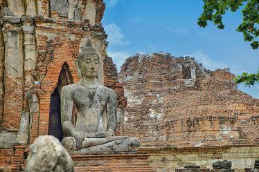Bild mit Kunstwerk, Buddha, Tempelanlagen, Religion, BUDDHASTATUE, Thailand, Bangkok, ayutthaya