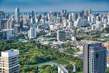 Bild mit Stadt, Hauptstadt, wolkenkratzer, südostasien, metropole, ausblick, Thailand, Bangkok