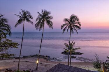 Bild mit Sonnenuntergang, Palmen, Inseln, asien, südostasien, Thailand