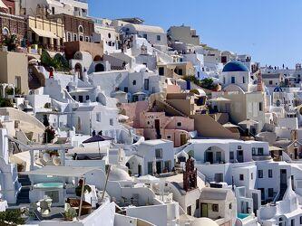 Bild mit Horizont, Architektur, Häuser, Insel, Santorini, Santorin, Oia