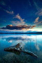 Bild mit Natur, Sonnenuntergang, Landschaft, See, Spiegelungen, Ammersee, lanzeitbelichtung