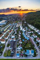 sonnenuntergang in Beringen