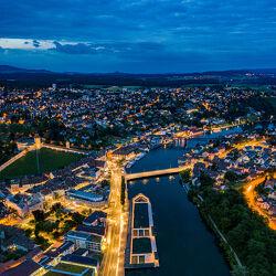 Schaffhausen bei Nacht