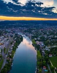 Bild mit Wasser, Panorama, Rhein, Luftaufnahme