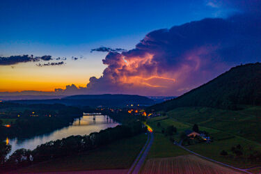 Stein am Rhein mit Blitz