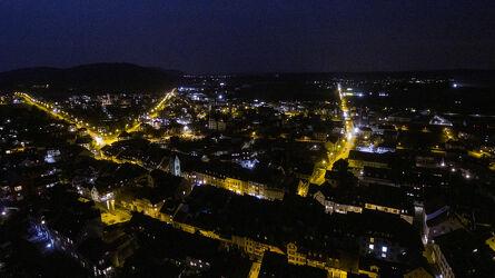 Bild mit Stadt, Nachtaufnahme, Thurgau