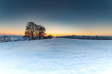 Sonnenuntergang in Hallau