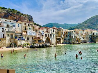 Bild mit Küsten und Ufer, Italien, Meer, Mittelmeer, Altstadt, Sizilien