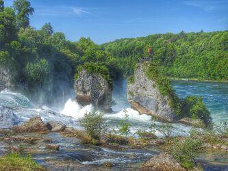 Bild mit Natur, Landschaft, Reisefotografie, Reise, Schweiz, Rheinfall, Schaffhausen