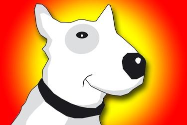 Bild mit Hunde, Hunde, Dog, Zeichnung, Illustration, Bullterrier, Hundebild