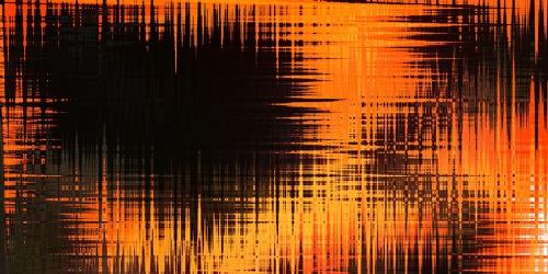 Bild mit Farben, Orange, Gelb, Kunst, Reflexion, Abstrakt, Abstrakte Kunst, Kunstwerk, Retro, Abstraktes