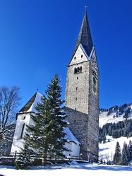 Kirche im Alpental Mittelberg