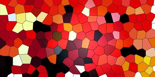Bild mit Farben, Orange, Rot, Abstrakt, Abstrakte Kunst, Abstrakte Malerei