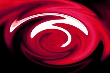 Bild mit Farben, Gegenstände, Rot, Figuren und Formen, Spiralen