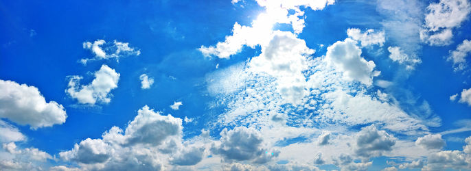 Wolkenhimmel Panorama
